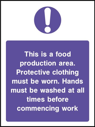 Food production area stickers