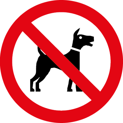No dogs symbol clear window sticker