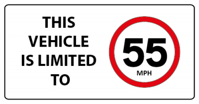 This vehicle is limited to 55mph