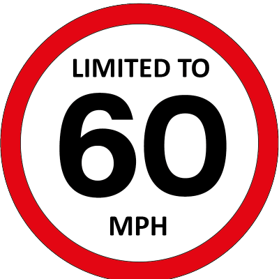 Limited to 60mph sign