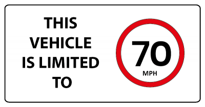 This is vehicle is limited to 70mph