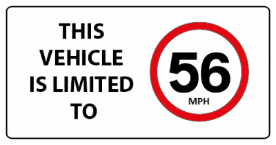 This vehicle is limited to 56mph