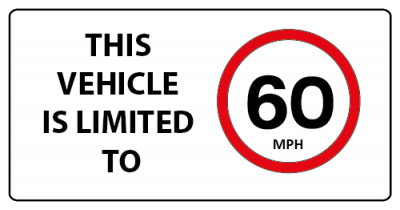 This vehicle is limited to 60mph