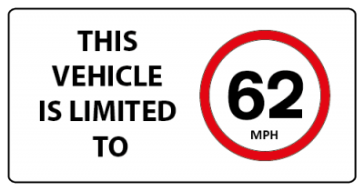 This vehicle is limited to 62mph