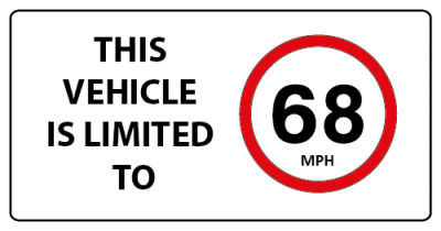 This vehicle is limited to 68mph