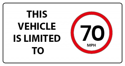 This vehicle is limited to 70 mph